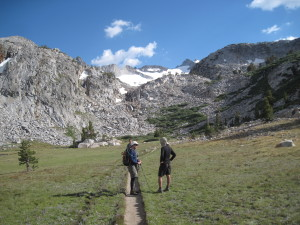 Mount Lyell & Lyell Glaicer from the JMT