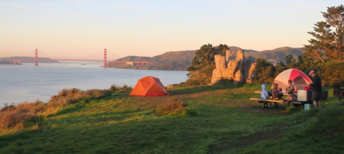 Angel Island Backpacking with Kids